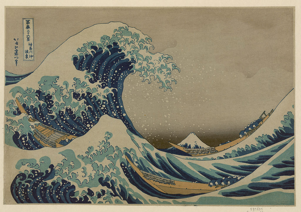 Q1. The brand's logo, designed by founder Alan Green and John Law in 1973, was inspired by Japanese painter Hokusai's woodcut The Great Wave off Kanagawa. It depicts a large wave with a mountain on a red background. Identify the brand. (Image source: Wikimedia Commons)