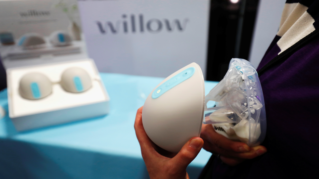 "A Willow, which is a wearable, in-bra breast milk pump, is displayed at ""CES Unveiled"". (Image: Reuters)"