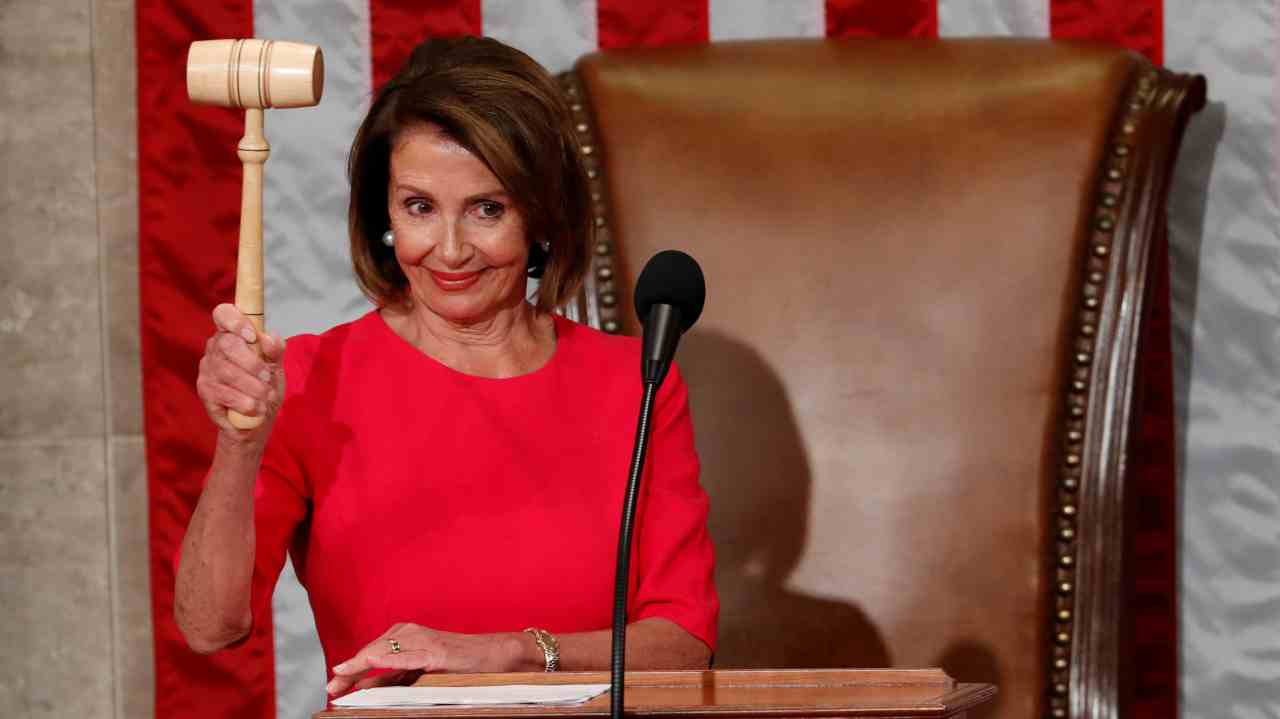 House Speaker-delegate Nancy Pelosi (D-CA) raises the gavel after being elected as House Speaker as the US House of Representatives meets for the start of the 116th Congress inside the House Chamber on Capitol Hill in Washington, US. (Image: Reuters)