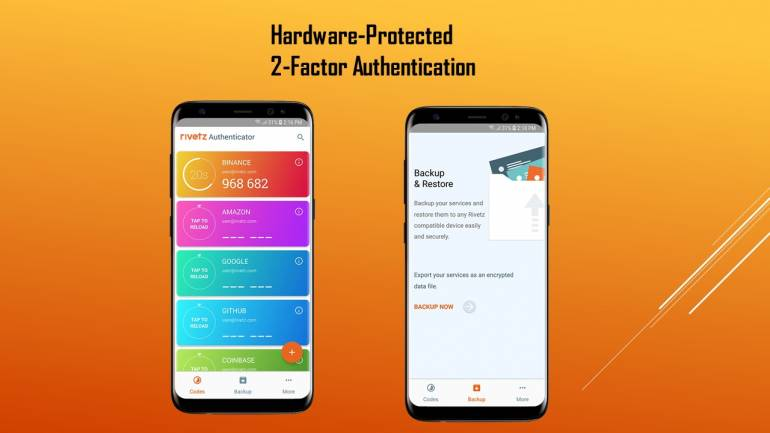 Rivetz Authenticator protects your identity using the secure hardware