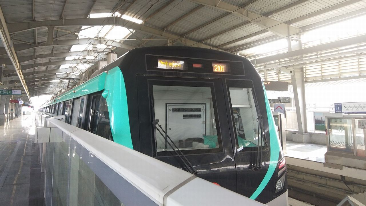 The 29.8 km elevated Noida-Greater Noida Metro link, popularly known as the Aqua Line, was inaugurated by Uttar Pradesh Chief Minister Yogi Adityanath on January 25. (Image: Vandana Ramnani/Moneycontrol)