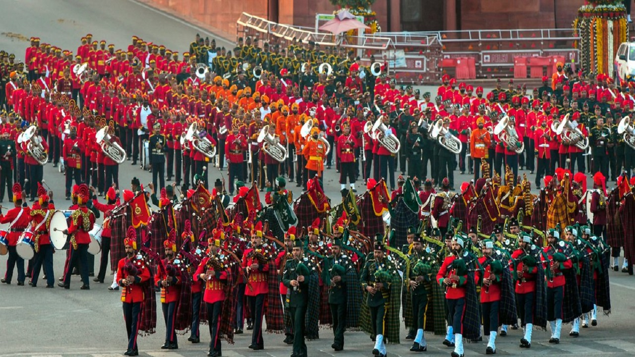 The Beating Retreat ceremony is held on January 29 every year to culminate the four-day long Republic Day celebrations. (Image: PIB, Twitter)