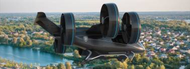 This is how Uber's partner company Bell's flying taxi looks like