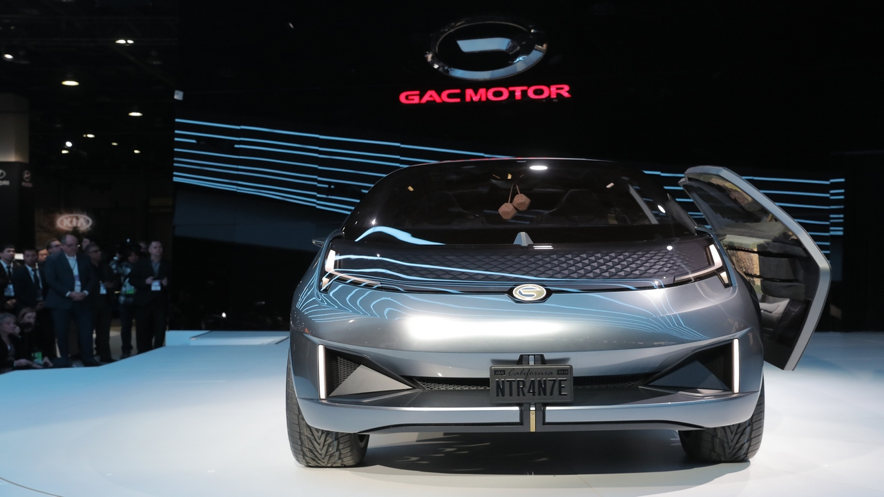 GAC Motors, a Chinese company, showcased the Entranze concept car which is designed in the United States and could be the first entrant of the Chinese company in the American market. (Picture Courtesy REUTERS/Rebecca Cook - HP1EF1E1HMBXW)