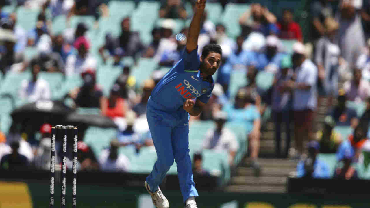 Bhuvneshwar Kumar (India) | Matches: 3 | Innings: 3 | Overs: 28.0 | Wickets: 8 | Best Bowling: 4/45 | Average: 17.37 | Economy rate: 4.96 (Image: AP)