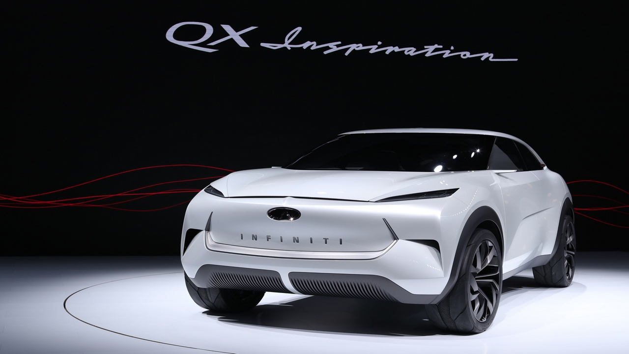 Not far behind the EV wagon was Infiniti's QX Inspiration concept car, which could be an electric SUV. (Picture courtesy REUTERS/Jonathan Ernst - HP1EF1E1PS10I)
