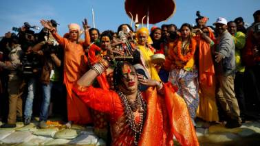 From pariah to demi-god; transgender leader shines at Kumbh