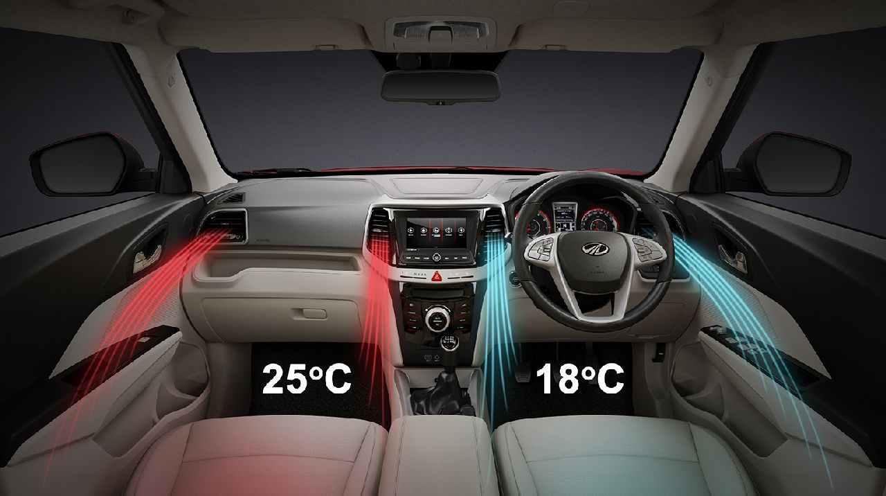 However, a smart-steering system, dual-zone auto climate control, a sunroof, heated outside rear view mirrors, front parking sensors and an auto-dimming inner rearview mirror are the only first-in-segment features that the car is equipped with. (Image: Mahindra & Mahindra)
