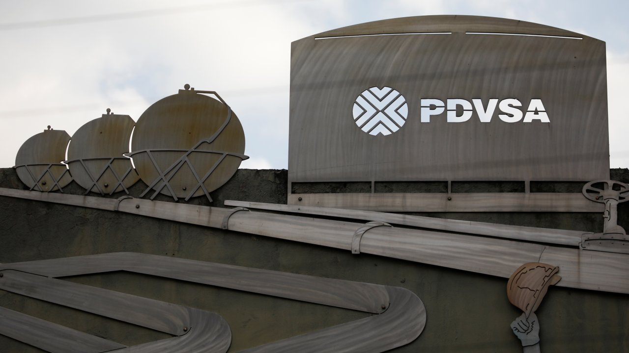 Venezuela | Believe it or not, petrol in the South American country is virtually free, thanks to government subsidies. Image shows a corporate logo of state-owned oil company PDVSA. (Image: Reuters)