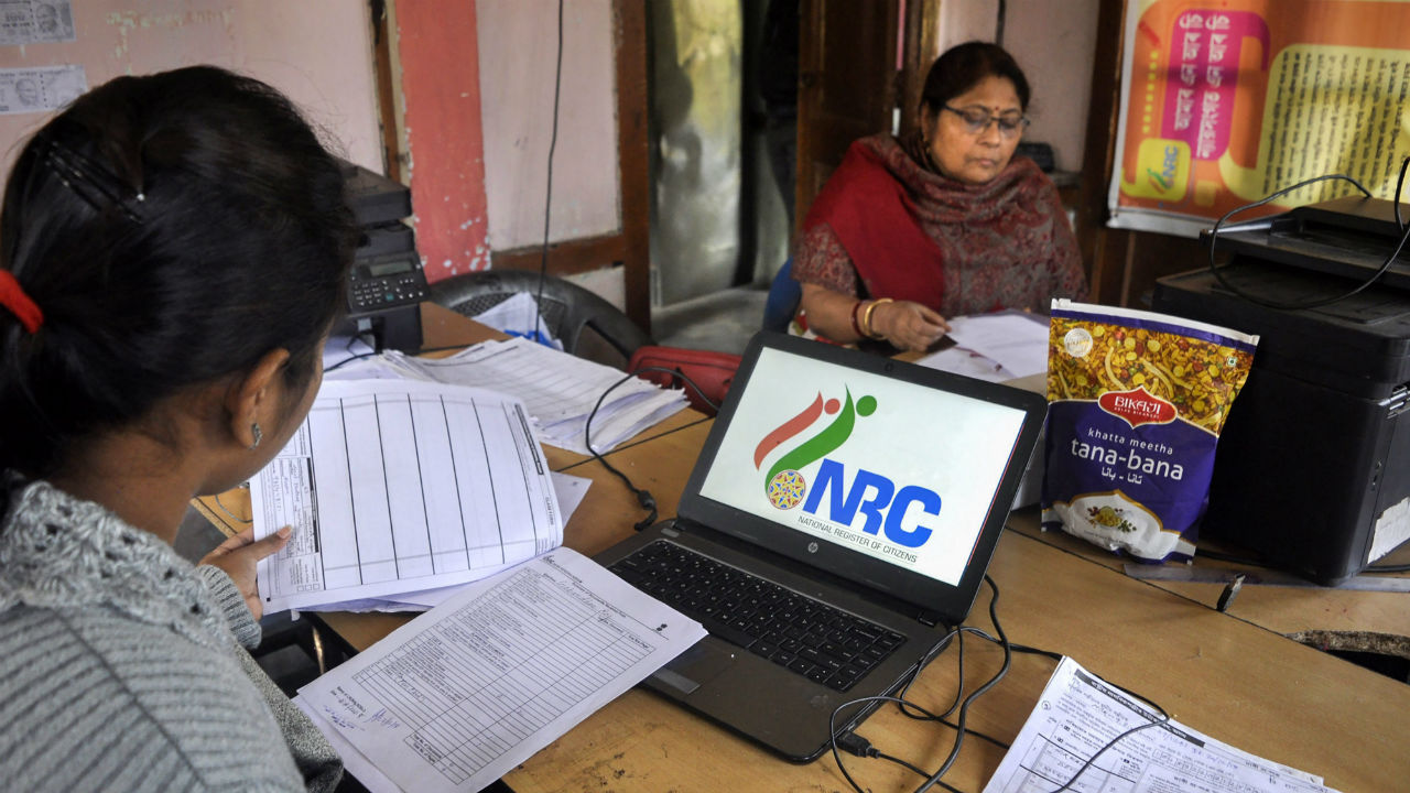 Data entry operators of National Register of Citizens (NRC) carry out correction of names and spellings at an NRC Seva Kendra at Birubari in Guwahati, Assam. The correction works are scheduled to end on January 31, 2019. (Image: PTI)