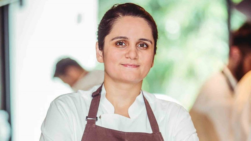 Q19. Identify this lady who was the first Indian woman to win a Michelin star rating. (Image: Reuters)