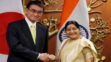 Sushma Swaraj, Japanese FM hold strategic dialogue; vow to strengthen ties