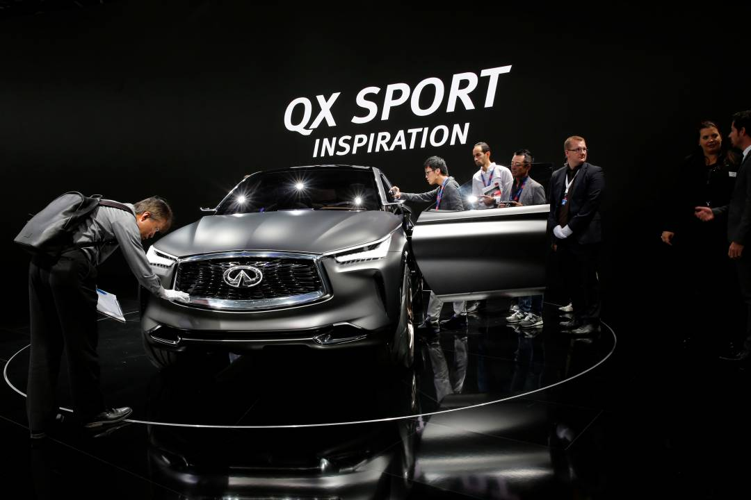 Infiniti QX Sport Inspiron | Born from the precise and calculative manufacturers Infiniti, the Japanese QX Sport Inspiration is a promising car to look out for. (Image source: Reuters)
