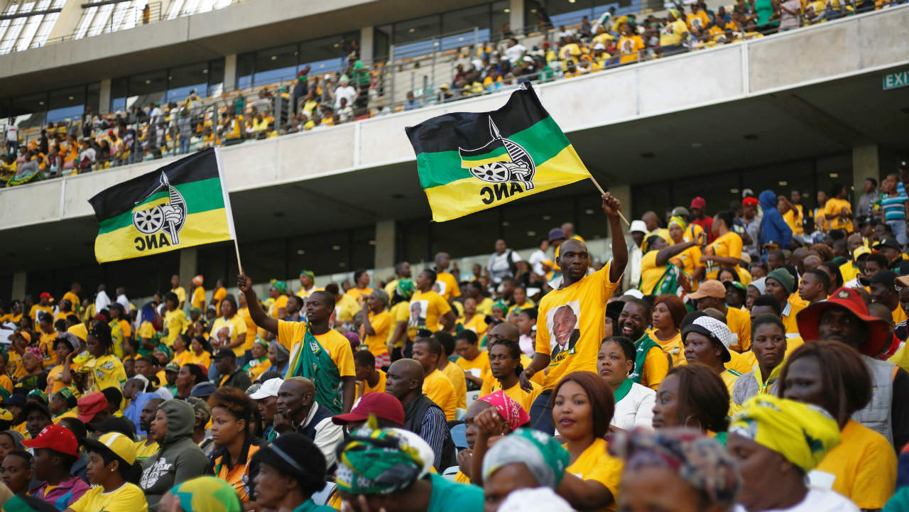 Supporters sing during the election manifesto launch of the African National Congress in Durban, South Africa. (Image: Reuters)