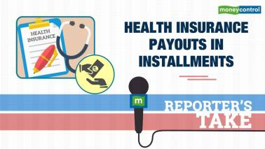 Health insurance payouts in installments