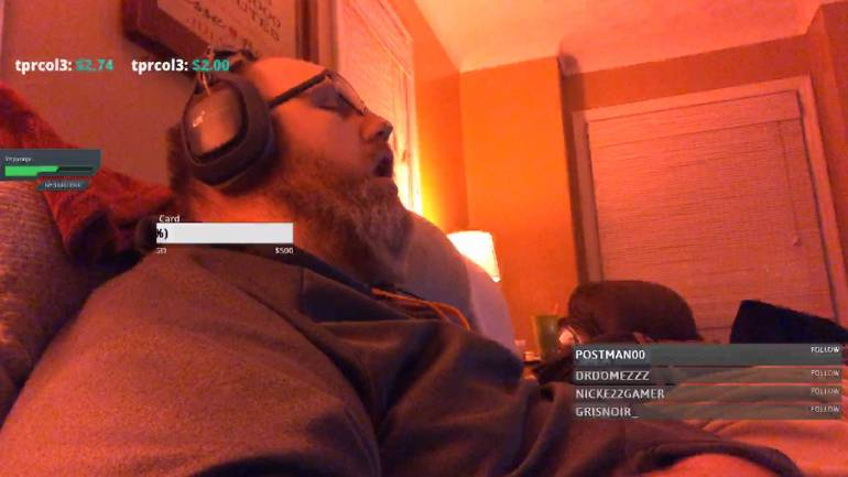 A big wink of sleep: Gamer dozes off on live stream, wakes up with 200  viewers and donations