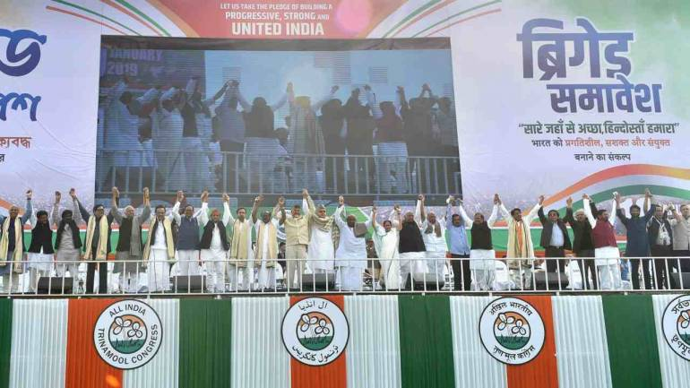 File image: Opposition leaders at Mamata Banerjee's rally in Kolkata, West Bengal on January 19, 2019