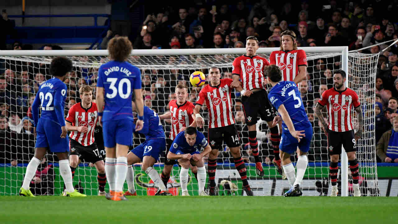 Chelsea 0 – 0 Southampton | Chelsea were frustrated by the Saints despite having 72% possession as they failed the find a way through at Stamford Bridge. Southampton maintained their first clean sheet in 11 Premier League games but still slid into the relegation zone following Burnley's win at Huddersfield. (Image: Reuters)