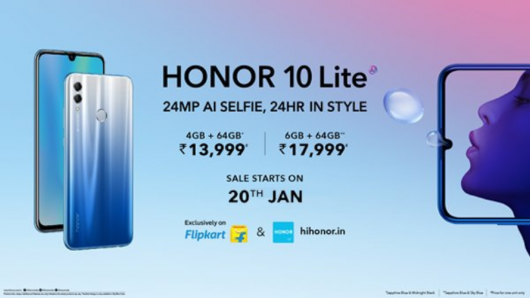 Honor 10 Lite launched with dewdrop notch display, Kirin 710, dual-rear  camera setup: Price, specs, availability