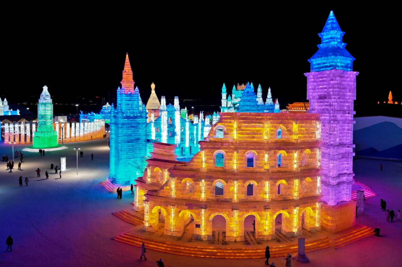 The Harbin International Ice and Snow Sculpture Festival will also feature a competition where sculptors from 12 different countries will present their opus. (Image: AP)