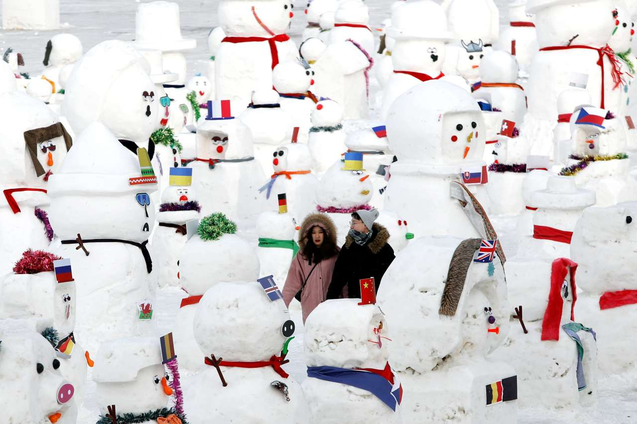 Entrance for the annual festival this year costs RMB 330, or Rs 3,340. Visitors can also enjoy plenty of free activities around town, including 2,019 snowmen of different shapes and sizes built along the river. (Image: Reuters)