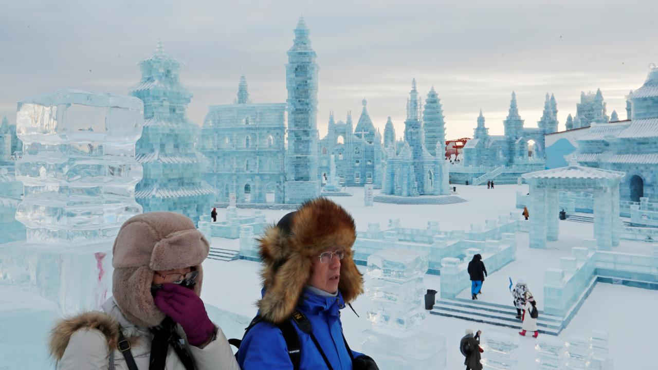 China kicked off its annual Harbin International Ice and Snow Sculpture Festival on January 5. The month-long spectacle set in Heilongjiang Province in northern China is one of the world's largest ice festival, featuring frozen castles, snow sculptures and other spectacular installations and activities. (Image: Reuters)