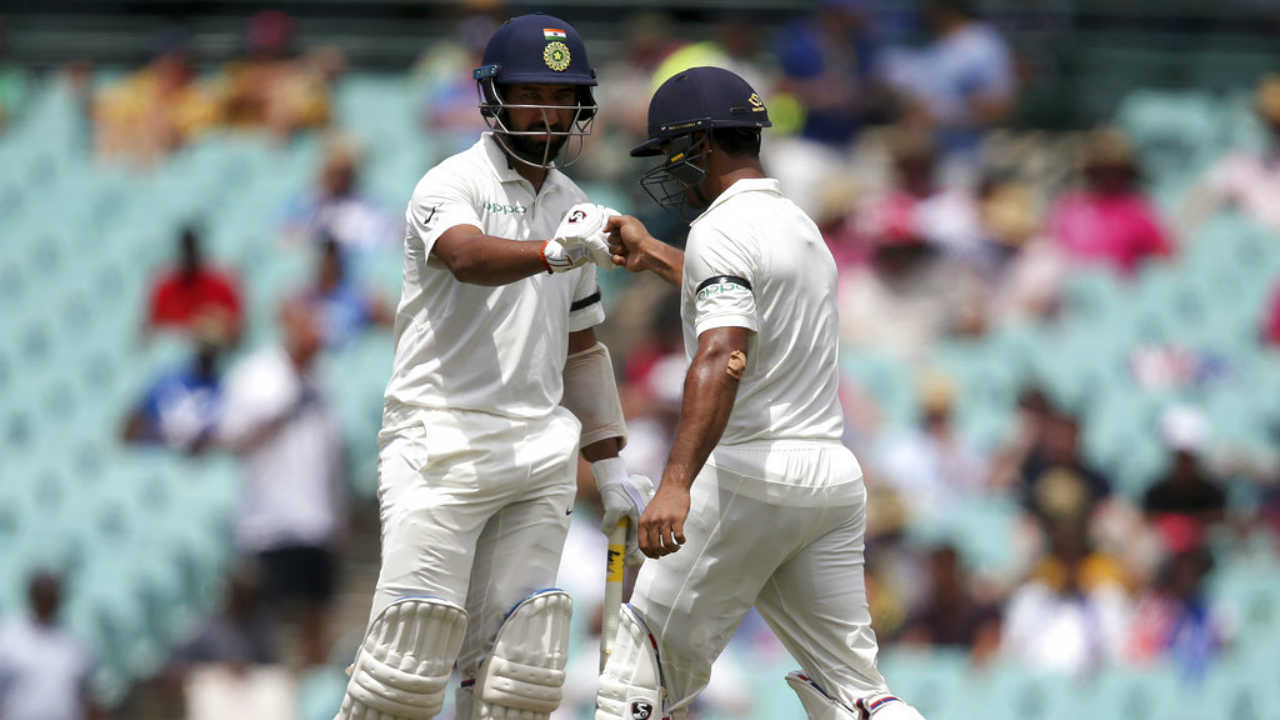 The two completed a 50-run stand as India were comfortably placed at 69/1 at Lunch. (Image: AP)