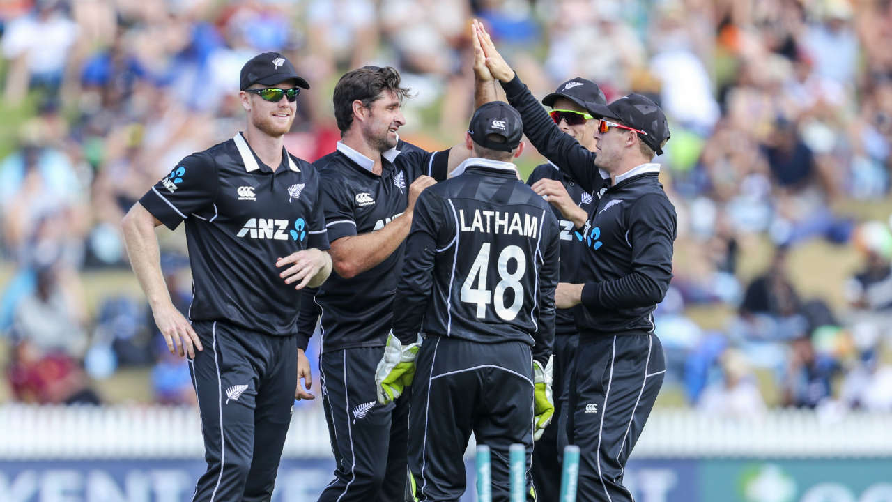 de Grandhomme was equally destructive from the other end and he clean bowled Bhuvneshwar Kumar in the 17th over. (Image: AP)