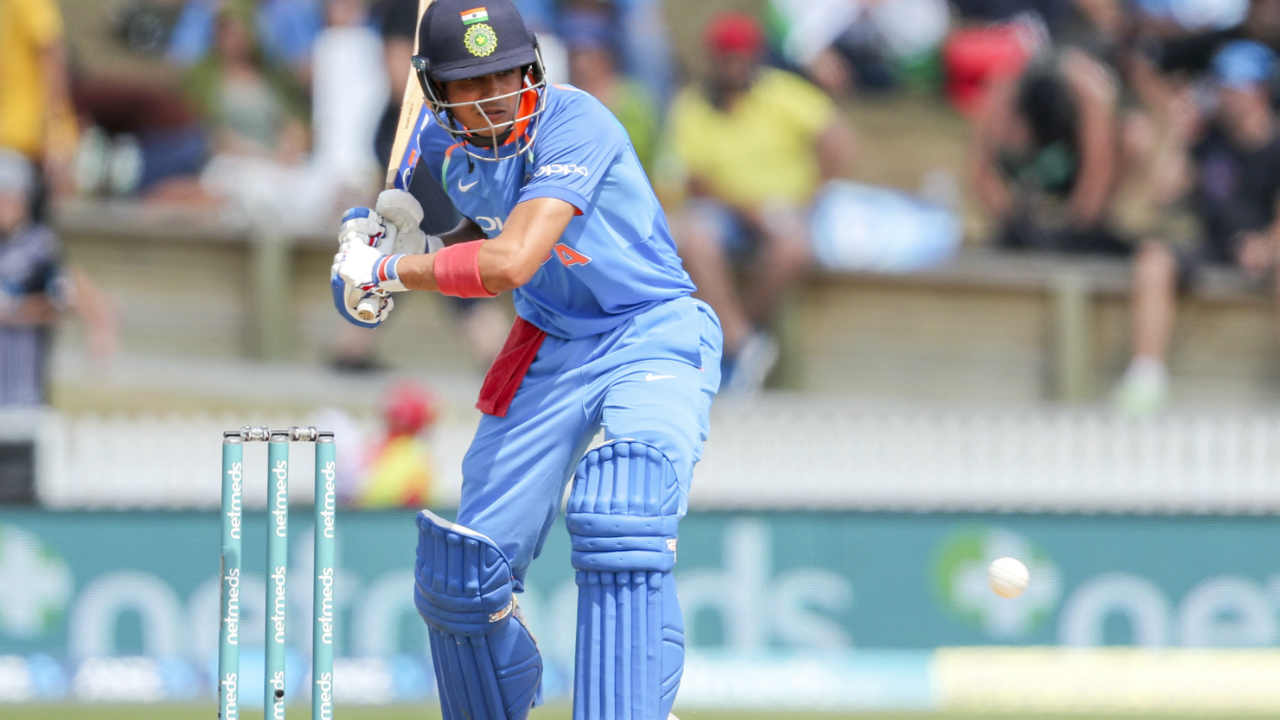 Early wickets meant debutant Gill was in the thick of action sooner than expected. Boult tested the new comer with a mix of swing deliveries and bouncers. Colin de Grandhomme dismissed Ambati Rayudu and Dinesh Karthik in one over to reduce India to 33/4. In tough conditions Gill showed great determination to preserve his wicket. (Image: AP)