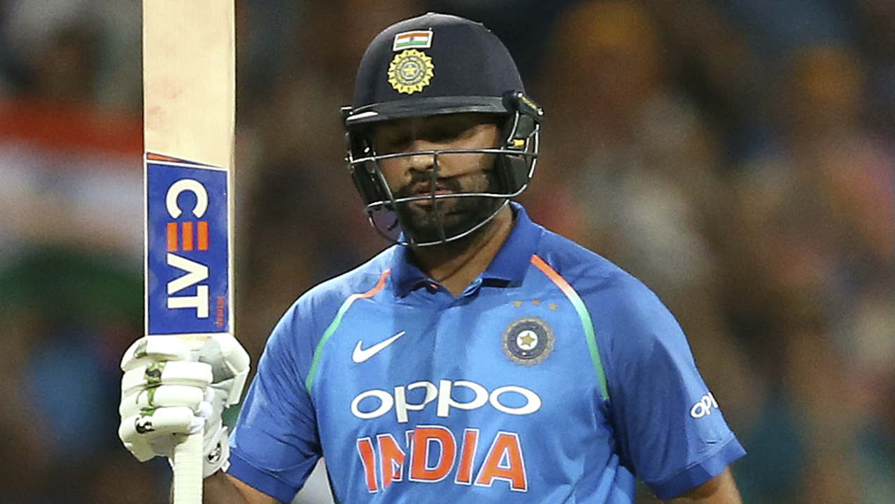 Dinesh Karthik could add only 12 runs before he became Richardson's third victim of the night in the 39th over. Rohit kept India in the hunt from the other end as brought up his 22nd ODI ton in the very same over. India still needed 109 runs to win from 60 balls at this stage. (Image: AP)