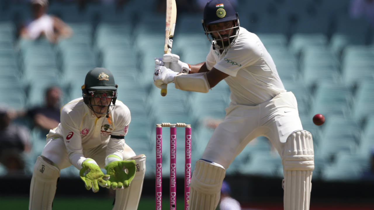 Following Agarwal's dismissal, Kohli and Pujara steadied the Indian innings adding 51 runs together before Tea to take India to 177/2 at the interval. (Image: AP)