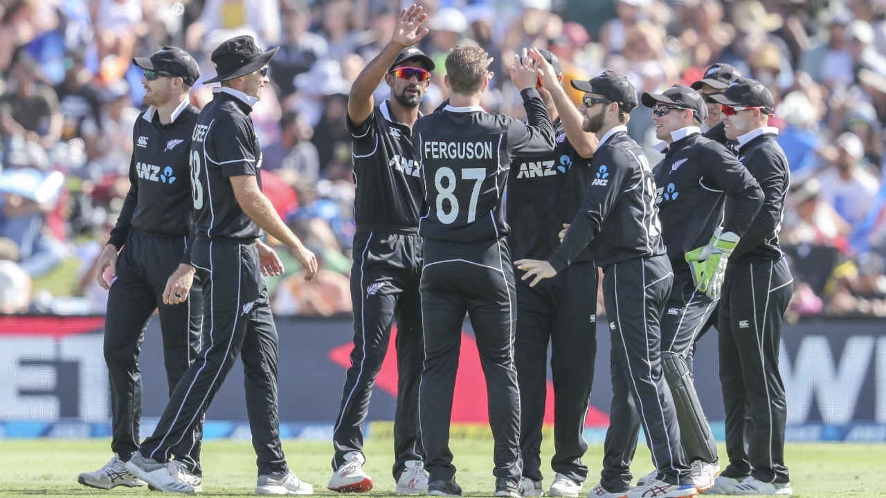 New Zealand finally got the breakthrough in the 26th over when Dhawan slashed hard at a short and wide delivery from Trent Boult but only edged it back to wicketkeeper Tom Latham who took a good diving catch. Rohit Sharma looked set to score a century but he departed on a personal score of 87 in the 30th over. Sharma went looking for a six off Lockie Ferguson but holed out to de Grandhomme at deep backward square leg. (Image: AP)