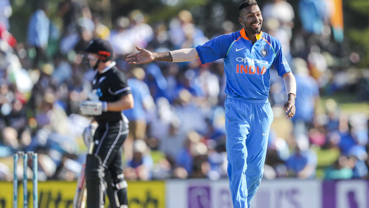Hardik Pandya (2/45) | Pandya celebrated his return to the side following a ban for comments made on a TV show by putting on a spectacular performance in the field and with the ball. He took a stunning diving catch at midwicket to dismiss Williamson and gave away just 9 runs in his opening five over spell. The all-rounder later picked up the wickets of Henry Nicholls and Mitchell Santner in consecutive overs. Stats| Overs: 10 | Wickets: 2 | Runs: 45 | Economy: 4.50. (Image: AP)