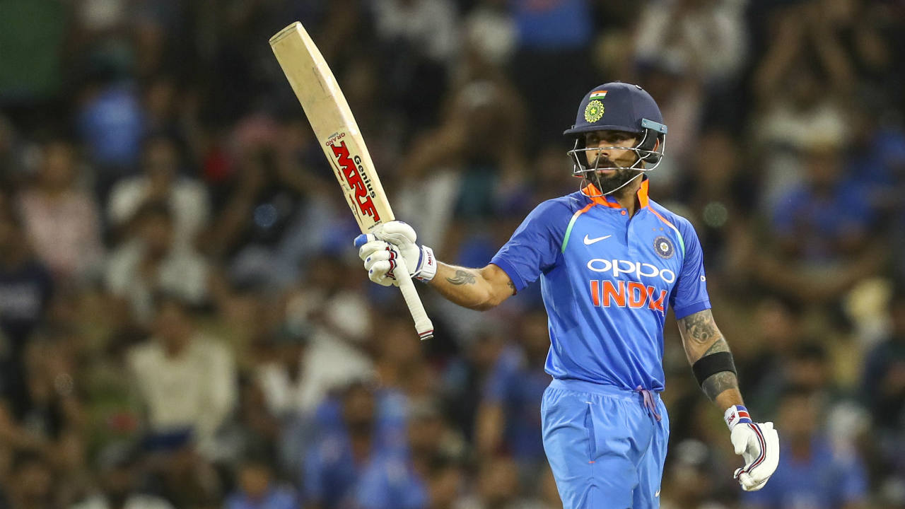 First player to hit 100s in three consecutive innings against two opponents | West Indies and Sri Lanka have fallen prey to Kohli's supreme batting skills. Kohli is the first ODI batsman to hit three consecutive hundreds against two opponents. Kohli hit 133*, 108, and 106 against Sri Lanka between February 2012 to July 2012. Then in October 2018 Kohli smashed the scores of 140, 157* and 107 against West Indies. (Image: AP)