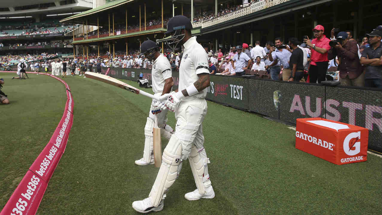 There was a fresh pair at top of the Indian batting order as best friends KL Rahul and Mayank Agarwal walked out to open the Indian innings. (Image: AP)