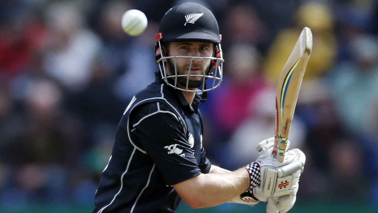 In the middle overs Williamson took control of the New Zealand innings and completed his 36th ODI half-century. Kuldeep Yadav then struck with a double-wicket maiden in the 32nd over to dent all Kiwi hopes. He first tempted Williamson into shot with a tossed up delivery which went straight to Vijay Shankar at long-on. Kuldeep then castled Doug Bracewell as he got the batsman to chop a googly back onto the stumps. When Bracewell walked back NZ were 146/8 (Image: Reuters, file photo)