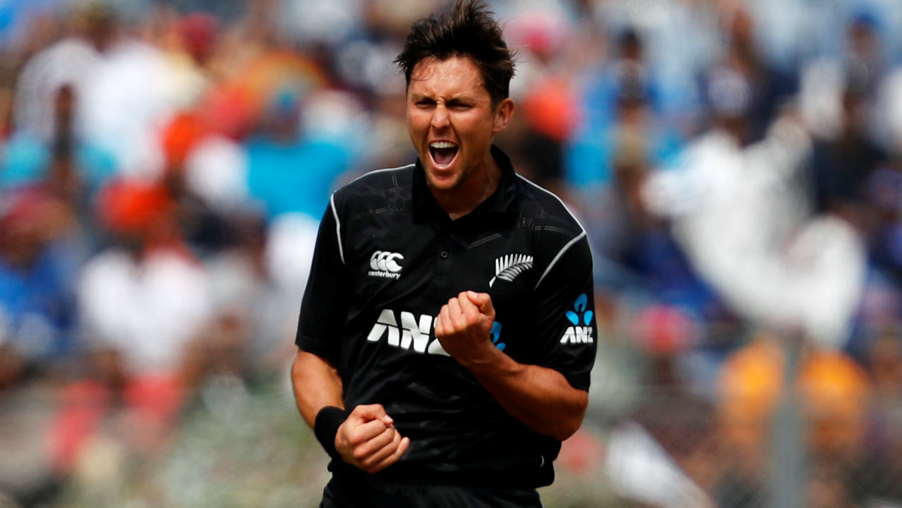 Trent Boult (2/40) | Boult was New Zealand's most effective bowler on the night. He provided the breakthrough for the Kiwis as he sent back the dangerous looking Dhawan who got off to a quick start. Boult then forced Kohli to mistime his shot with a well disguised slower delivery. Stats| Overs: 10 | Wickets: 2 | Runs: 40 | Economy: 4.00. (Image: AP)