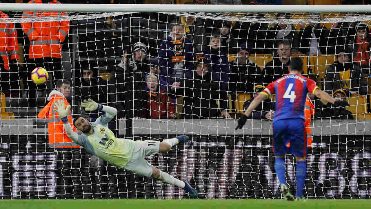 Wolves 0 – 2 Crystal Palace | Palace scored two late goals as they moved further away from the relegation zone with a win at Molineux. Jordan Ayew put the visitors ahead in the 83rd minute before Luka Milivojevic added a second from the penalty spot deep into stoppage time. Palace were awarded a spot-kick when Wilfried Zaha was brought down in the area by Ryan Bennett. (Image: Reuters)