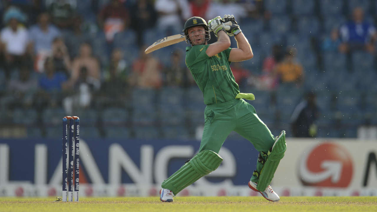 """De Villers pyro-techniques in T20 cricket reminds Windies batsman Chris Gayle of his own young days. Gaye said, """"AB de Villiers reminds me of my young days, What a Player!"""". (Image: Reuters)"""