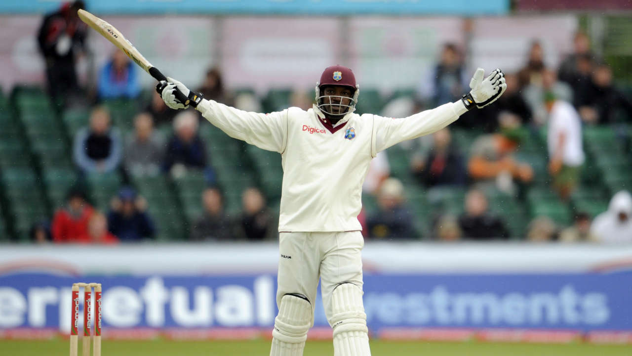 Chris Gayle is one of only four batsmen to have scored two Test triple hundreds. The other three batsmen in this elite company being Don Bradman, Brian Lara, and Virender Sehwag. (Image: Reuters)