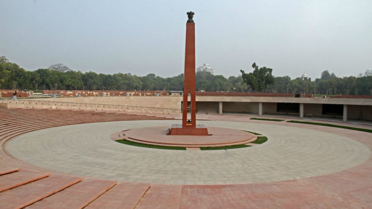 PM Modi will dedicate the memorial by lighting the flame positioned at the bottom of the stone-made central obelisk. (Image: Twitter/@PMOIndia)