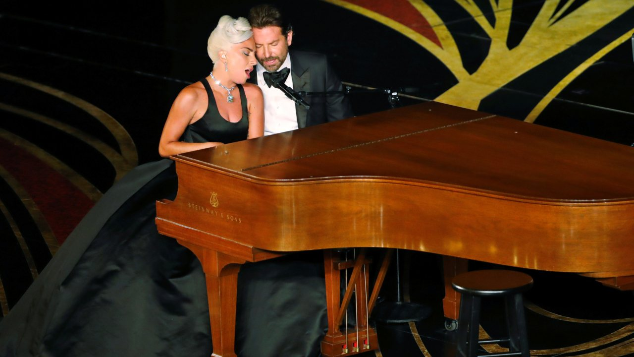"Lady Gaga and Bradley Cooper perform the song ""Shallow"" from ""A Star Is Born."" (Image: Reuters)"