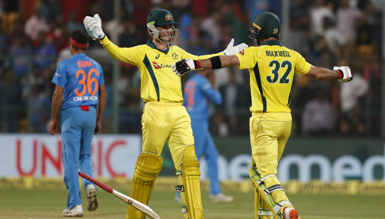 Like the previous match the Australian chase again went all the way down to the wire with the visitors needing 9 runs off the last over. Maxwell hit a six and a four off the third and the fourth ball of the 20th over to seal the match and the series for Australia. The 'Big Show' remained unbeaten on 113. (Image: AP)