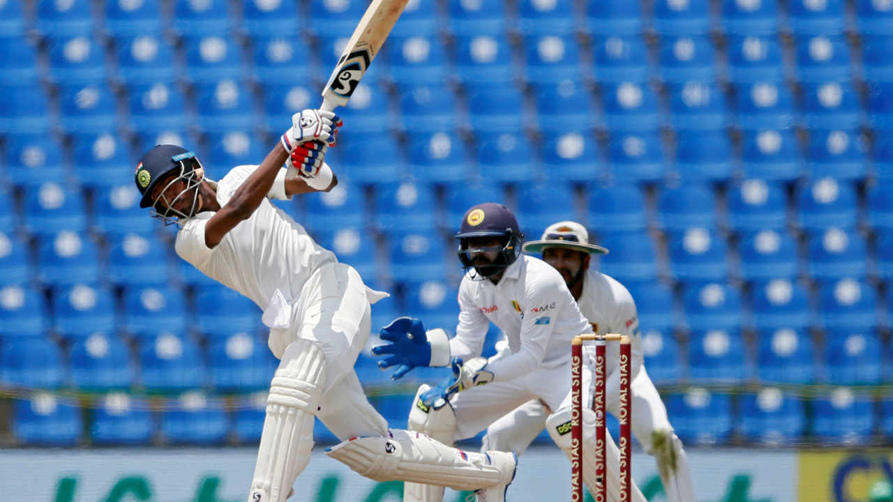 Sri Lanka v India, 3rd Test, August 13 2017, Pallekelle | In the third Test during India's 2017 tour of Sri Lanka, India had a great start thanks to the efforts of openers Shikhar Dhawan (119) and KL Rahul (85). India were 430/9 in 115 overs. Pandya had just a little while back completed his fifty. The ball was thrown to Malinda Pushpakumara to bowl the 116th over with Pandya on strike. First two balls were played for boundaries. Pandya lofted the third ball over long-off for the first six. Pandya was in T20 mood as he came down the track and lifted the fifth ball over long-off for the second six. The hat-trick of sixes was completed on the last ball of the over when Pandya came down the track and dispatched the ball over long-on for six. Pandya went on to complete his maiden Test hundred and India won the match by an innings and 171 runs. The Indian all-rounder announced his arrival in Test cricket with a stylish performance which helped him clinch the Player of the Match award. (Image: Reuters)