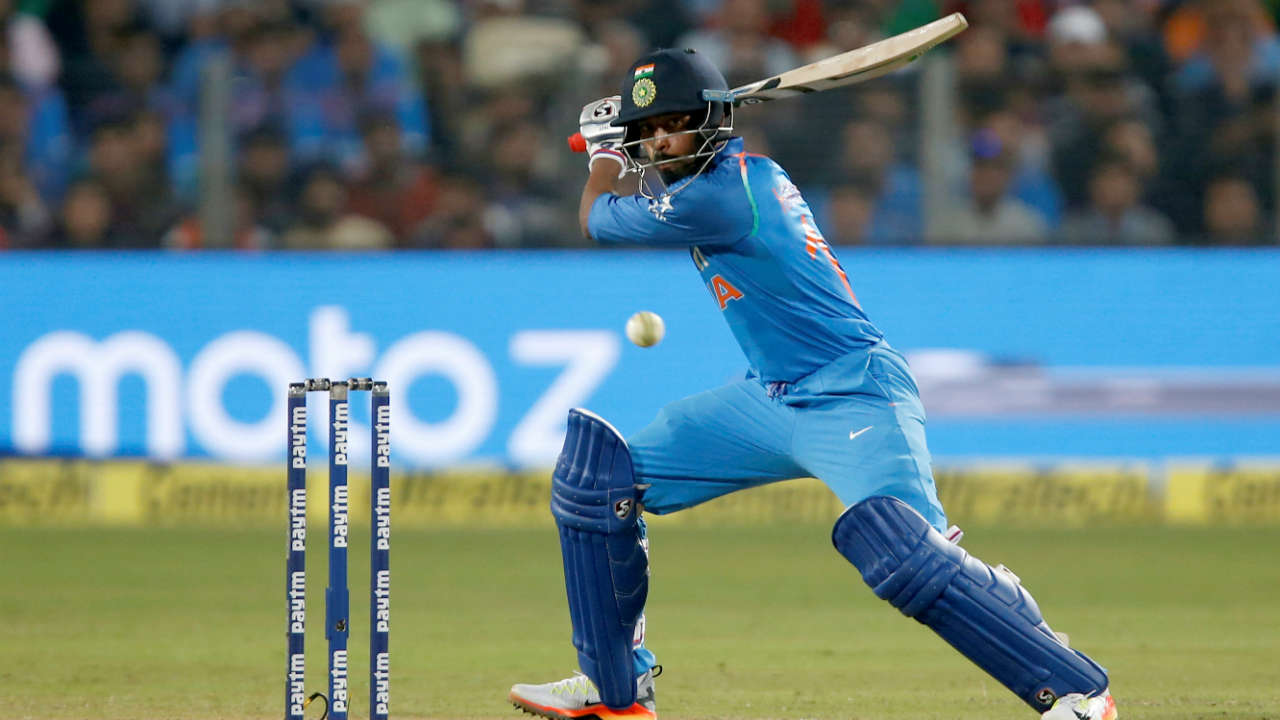 New Zealand v India, 5th ODI, February 3, 2019, Wellington| India batting first had early jitters and were struggling at 18/4. The visitors recovered thanks to the efforts of Ambati Rayudu (90) and Vijay Shankar (45). India were 205/7 at the start of the 47th over. Todd Astle had the ball in hand. First ball was a dot. Second ball was short on middle and Pandya pounced on it to to launch the ball over mid-wicket for six. The second ball was full outside off and Pandya unleashed his inside out shot to clear the extra cover boundary for the second six. Astle kept the third ball full on middle which was right in Pandya's hitting arc and the batsman swung his bat hard to pick up a six over mid-wicket. Pandya went on to make 45 off just 22 balls. His late blitz helped India post 252 and India won the match by a comfortable margin of 35 runs. (Image: Reuters, Representational)