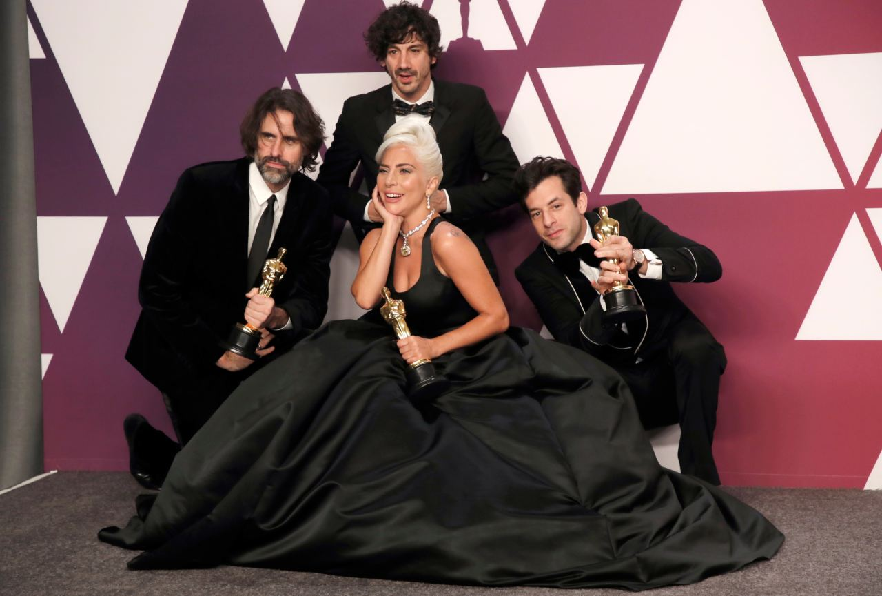 """Best Original Song: Lady Gaga, Mark Ronson, Anthony Rossomando and Andrew Wyatt, """"Shallow"""" from """"A Star Is Born"""" (Image: Reuters)"""