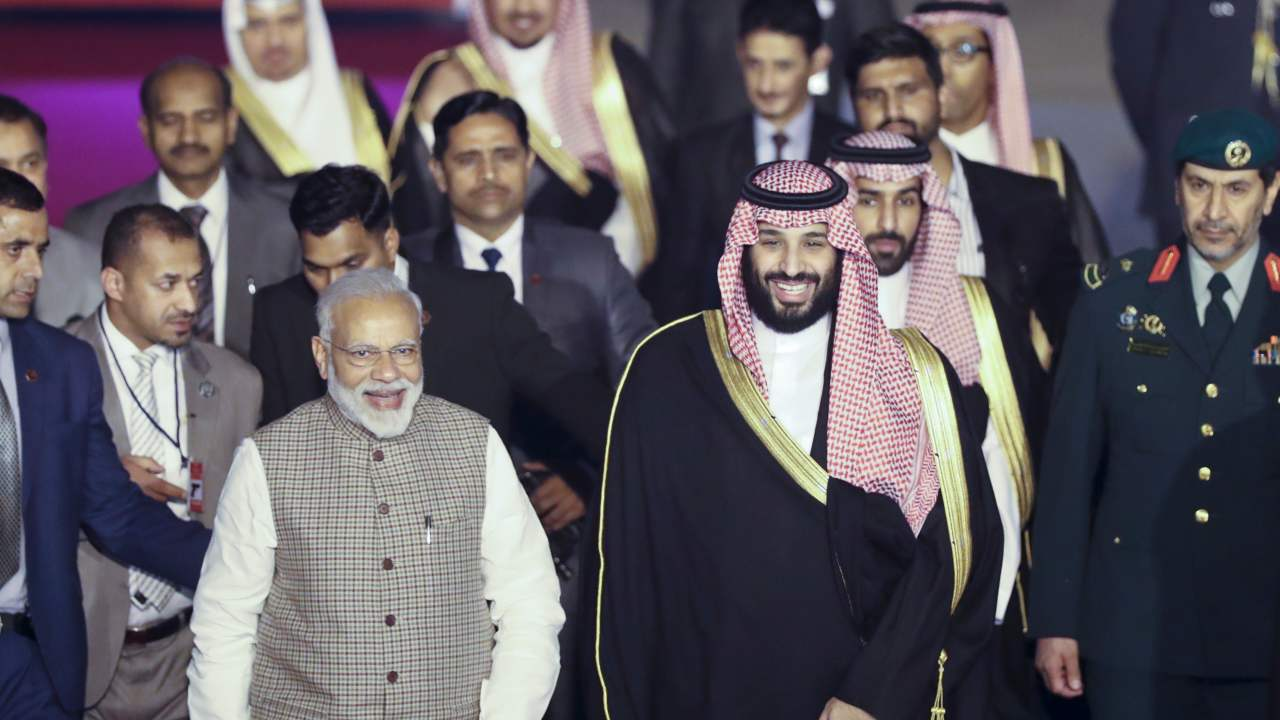 Saudi Crown Prince Mohammed bin Salman, who is on his maiden official visit to India, was welcomed by PM Narendra Modi on February 19. During MBS' 30-hour visit, the two leaders are likely to discuss a plethora of issues ranging from trade to defence and security. Read on two find out potential bilateral agreements India and Saudi may sign today. (Image: AP)