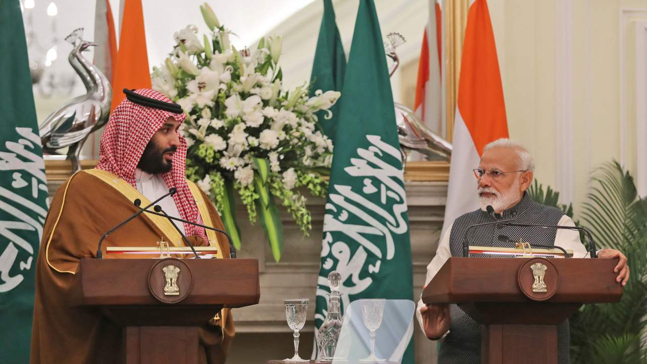 Energy synergy | When you have representatives of the world's third-largest oil importer (India) and the world's biggest oil exporter (Saudi Arabia) in the same room, some greasy talks are bound to happen. Saudi is already a key pillar of India's energy security, supplying over 17 percent of the country's crude oil requirements and 32 percent of LPG requirements. Reports suggest that the talks would cover Saudi Aramco's investment in refineries in India, including the stalled $44 billion refinery in Maharashtra. (Image: AP)