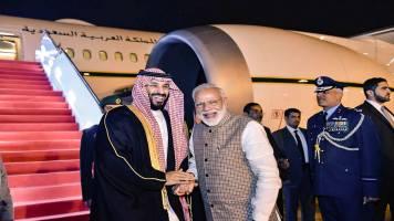 PM Modi receives Saudi Crown Prince Mohammed bin Salman at airport