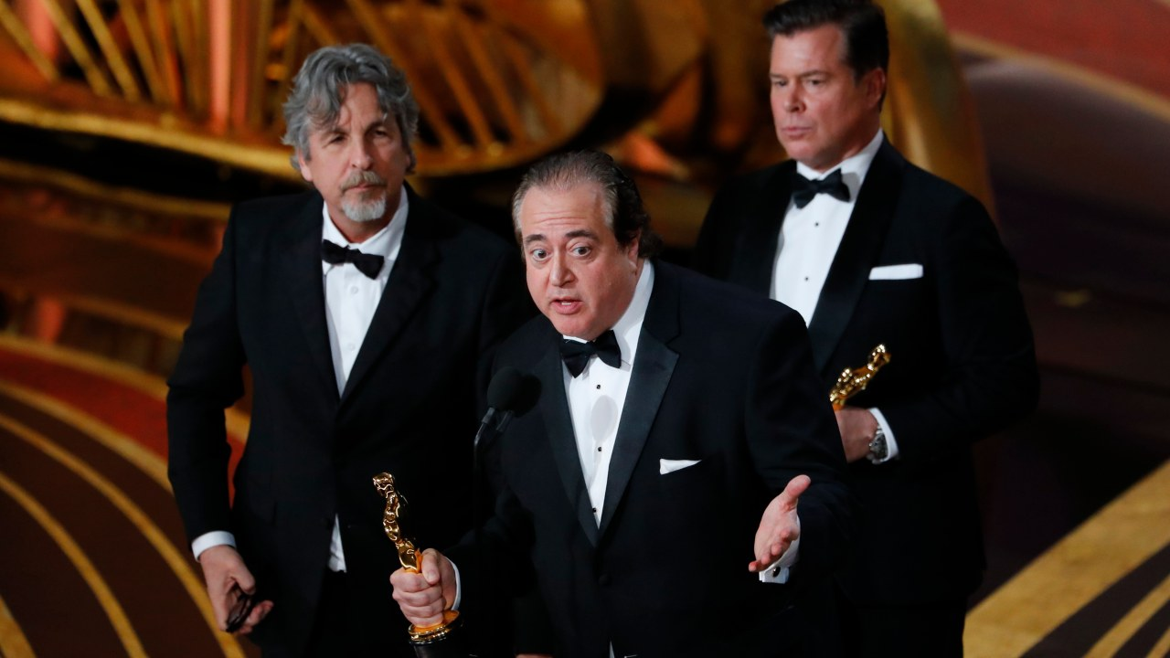 """Best Original Screenplay: Nick Vallelonga, Brian Currie and Peter Farrelly , """"Green Book"""" (Image: Reuters)"""